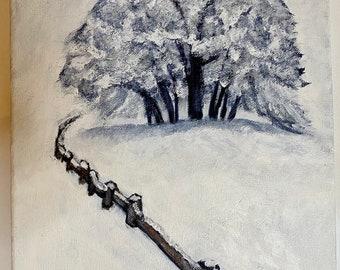 Winter Tree Original Painting