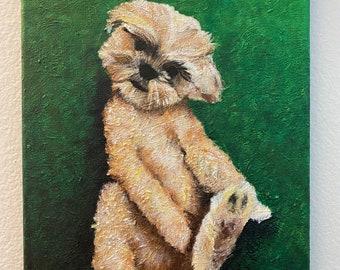 Holly Dog Greeting Card