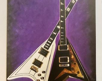 Randy Rhoads Guitars Art Print