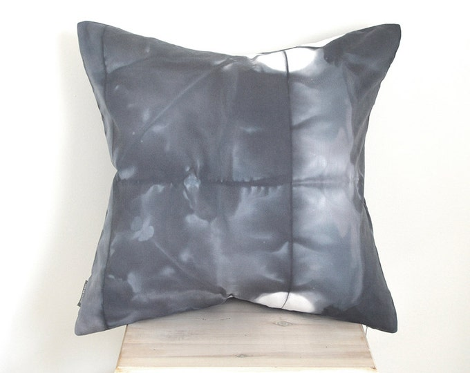 Charcoal Grey Shibori 20x20 Pillow Cover - Slate