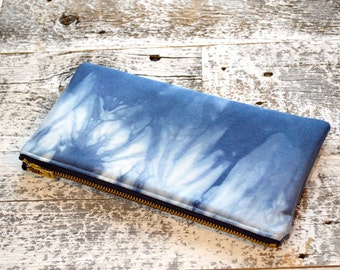 Shibori Pouch - Navy Pencil Case - Marine