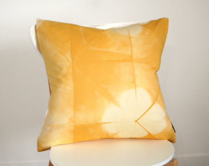 100% Organic Cotton Tie-Dye Pillow Cover - 20 x 20 inches - Goldenrod