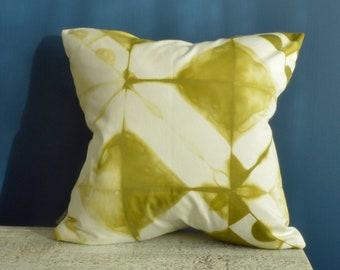 Tie Dye Green Pillow Cover  - 18x18 inches - Avocado