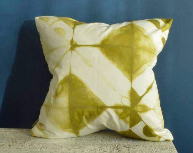 Tie Dye Green Pillow Cover  - 18x18 inches - Avocado