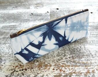 Tie Dye Navy Blue Clutch - Wristlet Clutch - Marine