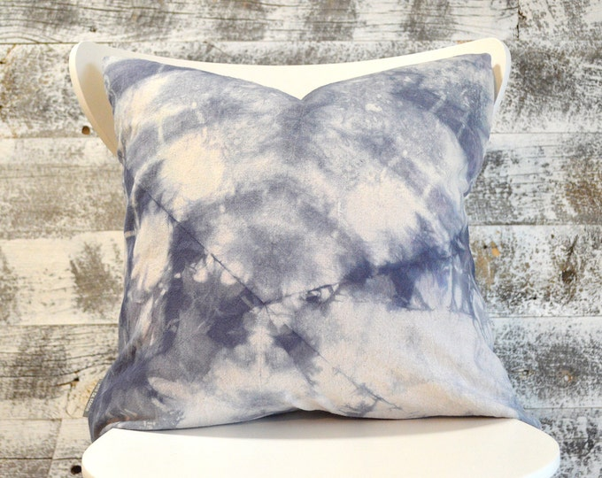 Tie-Dye Pillow Cover - Marine navy