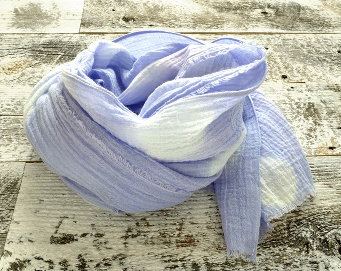Lavender Tie-Dye Scarf - lightweight cotton scarf