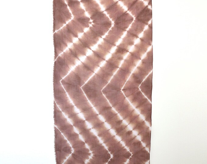 Rosewood Tie-Dye Chevron Scarf