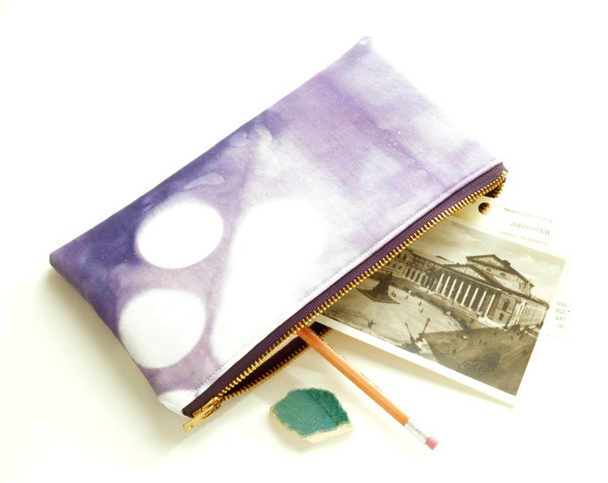 Tie-Dye Pouch - Purple Clutch - Amethyst