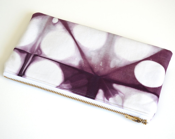 Tie-Dye Pouch - Purple Pencil Case - Plum