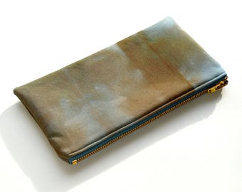 Tie-Dye Pouch - Chocolate Steel