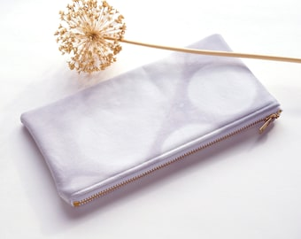 Tie-Dye Dyed Pouch - Icicle - Pale Grey
