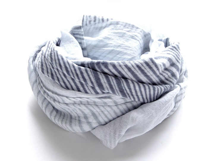 Featured on 'The Kit' - Slate Grey Tie-Dye Scarf