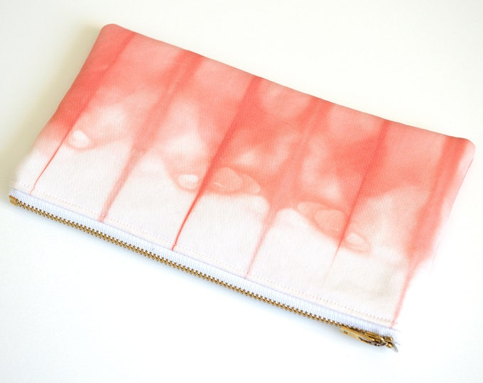 Tie-Dye Pouch - Coral Pencil Case - Coral