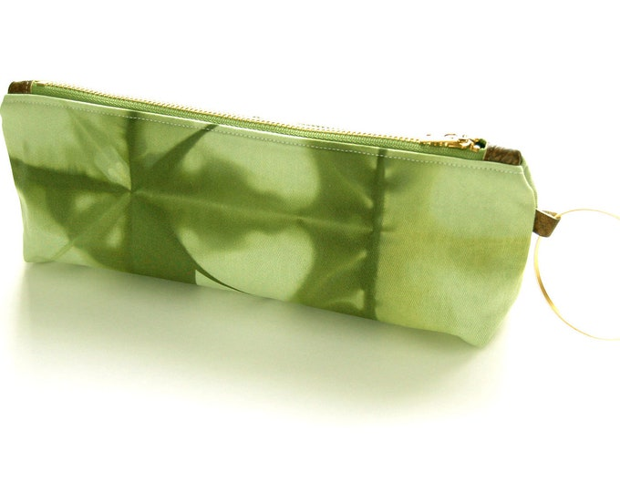 100% Organic Cotton Tie-Dye Clutch - Green Tie-Dye Wristlet Clutch - Deep Moss