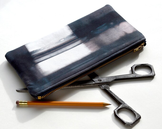 Hand Dyed Tie-Dye Pouch - in Midnight Storm