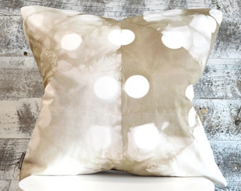 Contemporary Tie-Dye Pillow Cover 18x18 inches - Wild Mushroom