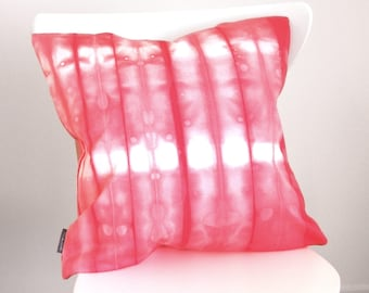 Coral Pillow Cover - Modern Shibori - 18x18 inches