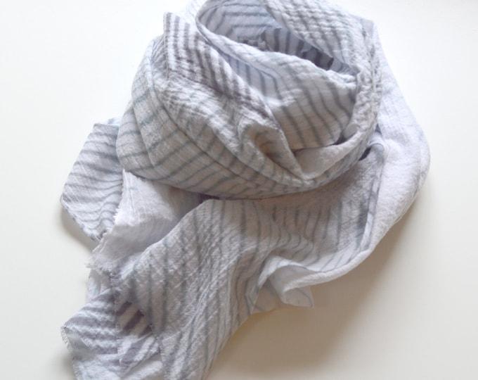 Slate Grey Shibori Scarf