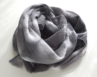 Slate Tie-Dye Chevron Scarf