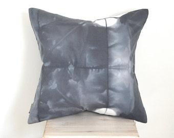 Charcoal Grey Tie-Dye 20x20 Pillow Cover - Slate