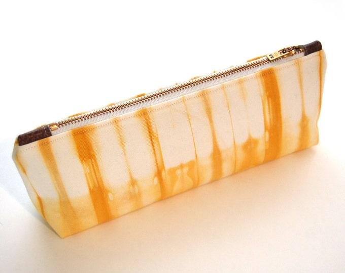 100% Organic Cotton Shibori Clutch - Yellow Shibori Clutch