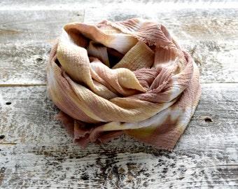 Harvest Brown Tie-Dye Scarf