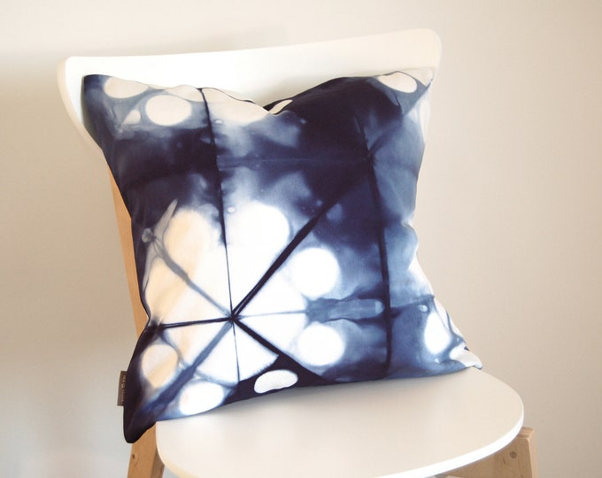 Tie Dye Navy Blue Pillow Cover