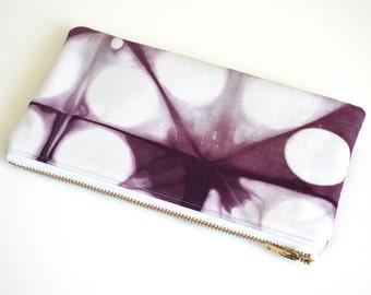 Tie-Dye Pouch - Purple Pencil Case - Plum