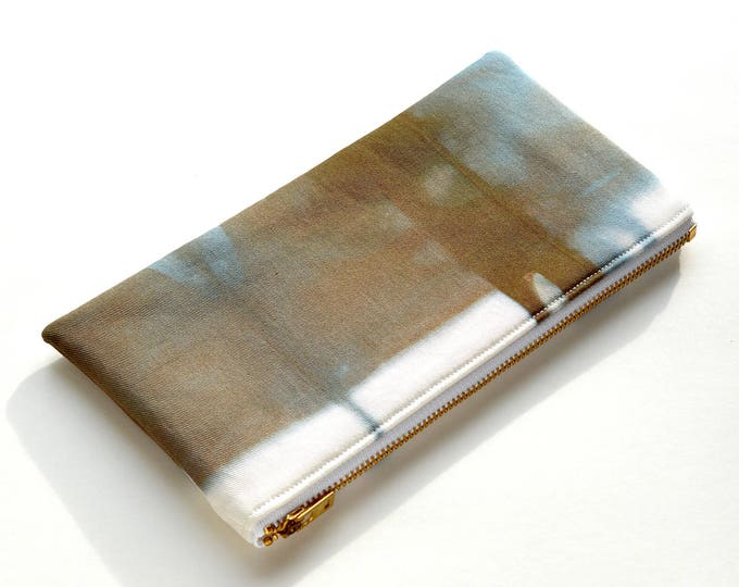 Shibori Pouch - Chocolate Steel