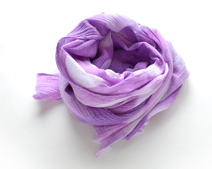 Radiant Orchid Tie-Dye Scarf