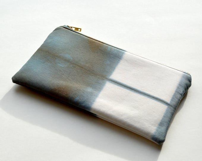 Shibori Clutch - Chocolate Steel