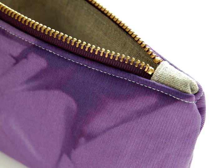 100% Organic Cotton Tie-Dye Pouch - Purple Tie-Dye Pouch - Amethyst