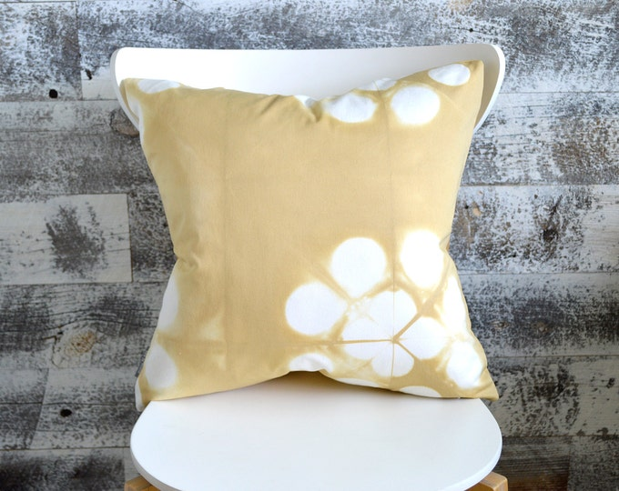 Wheat Coloured Tie-Dye Pillow Cover 18x18 inches