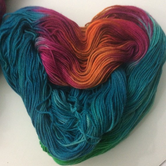 Easter Grass Indie dyed Fingering Weight Yarn 50g Sock Pink Green Blue Superwash SALE Clearance
