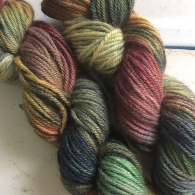 You Can/'t Find Me Indie dyed Bulky Weight Yarn Camo Camouflage Wool Alpaca