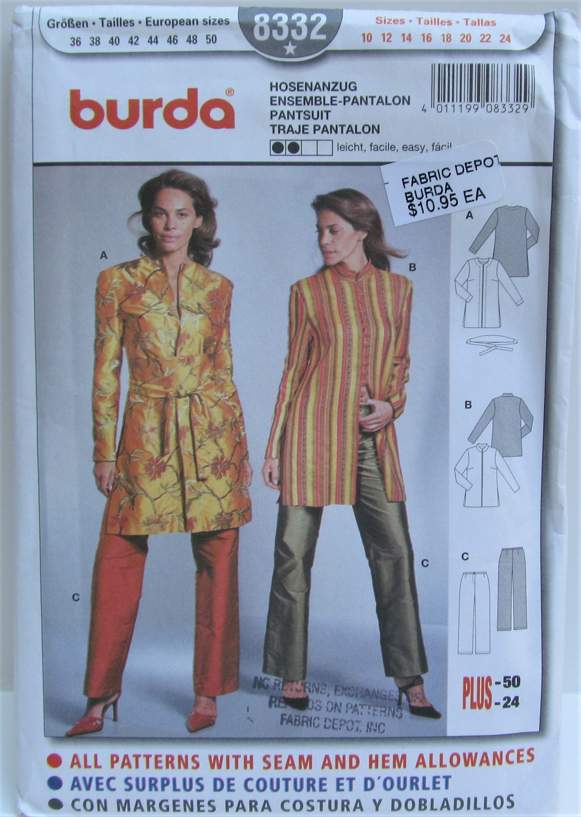 2632ecbe5e6 Women s Suit Semi Fitted Jacket And Pants Size 10 12 14 16