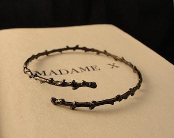 Thorn Bracelet, Gothic Jewelry, Branch Bracelet,Vampire, Gothic Bracelet, Gothic, Black Thorn Bracelet, Twilight Jewelry, Crown of Thorns