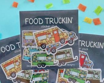 Food Truck Sticker Pack   Waterproof Vinyl Stickers   Sticker Pack   Food Stickers   Laptop Sticker   Phone Case Sticker