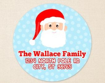 santa address label etsy