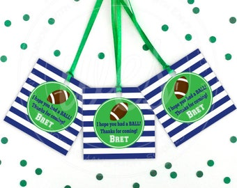 Football Favor Tags - Football Thank You Tag - Sports Tags - Sports Favor Tag - Football Gift Tag - Emailed File or Shipped Tags Available