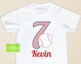 Personalized Baseball Birthday Iron On - Baseball Iron On - Baseball Transfer - Sports Iron On - Baseball Decal - EMAILED or SHIPPED