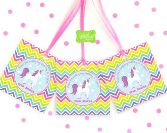 Unicorn Favor Tags - Unicorn Thank You Tag - Unicorn Gift Tag - Unicorn Party Favor - Digital or Printed Tags Available