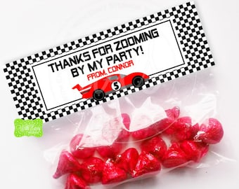 Race Car Treat Bag Topper - Personalized Treat Bag Topper - Race Car Bag Topper - Race Car Favor Bag - EMAILED or SHIPPED