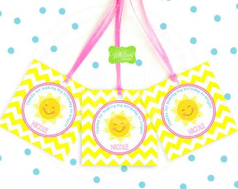 Sunshine Favor Tags - Sunshine Thank You Tags - You Are My Sunshine - Sunshine Gift Tags - Digital or Printed Tags Available