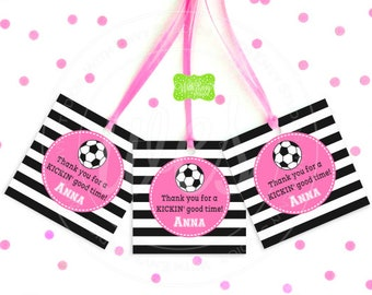 Soccer Favor Tags - Soccer Thank You Tag - Sports Tags - Sports Favor Tag - Soccer Gift Tag - Digital & Printed