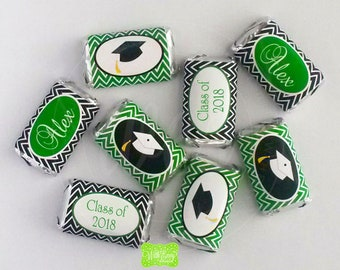 Graduation Party Mini Chocolate Bar Wrappers - Graduation Chocolate Bar Wrappers - Graduation Candy Bar Wrappers - DIY or Printed Wrappers