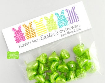 Easter Treat Bag Topper - Personalized Easter Treat Bag Topper - Easter Bunny Bag Topper - Emailed or Shipped Toppers Available