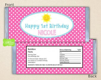 Sunshine Chocolate Bar Wrappers - Sunshine Candy Bar Wrapper - You Are My Sunshine Label - My Little Sunshine - Digital or Shipped Available