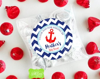 Nautical Favor Stickers - Nautical Gift Stickers - Sailing Thank You Stickers - Sailing Stickers -  Digital & Printed